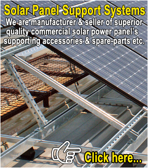 solar power pannel support accessories and spare parts manufacturers exporters in india