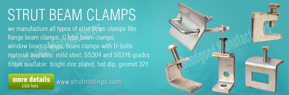 beam clamps - strut beam clamp - window c type flange beam clamp manufacturers exporters from india punjab ludhiana
