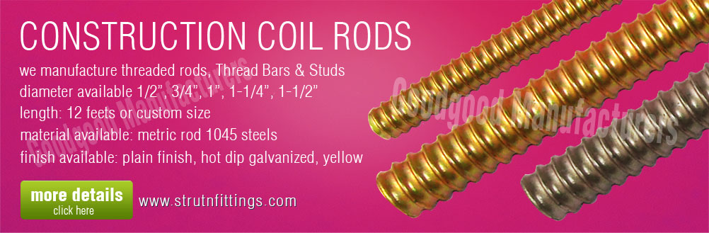 coil rods - construction formwork coil rods manufacturers exporters from india punjab ludhiana